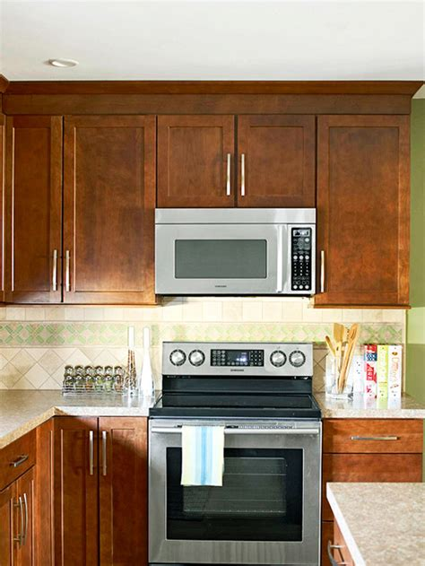kitchen microwave cabinet how to integrate a microwave better homes gardens 2299