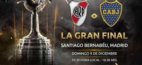 Oficial: River Plate vs. Boca Juniors en el Santiago ...