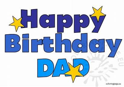 Dad Birthday Happy Clipart Coloring Clipground