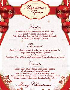 Christmas Menu Template by oloreon | GraphicRiver