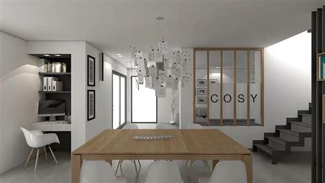 espace bureau dans salon ecriture d 39 un intérieur contemporain soa architecture