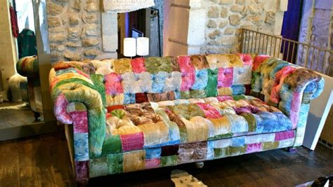 canapé patchwork chesterfield sofa patchwork walton multicolured patchwork