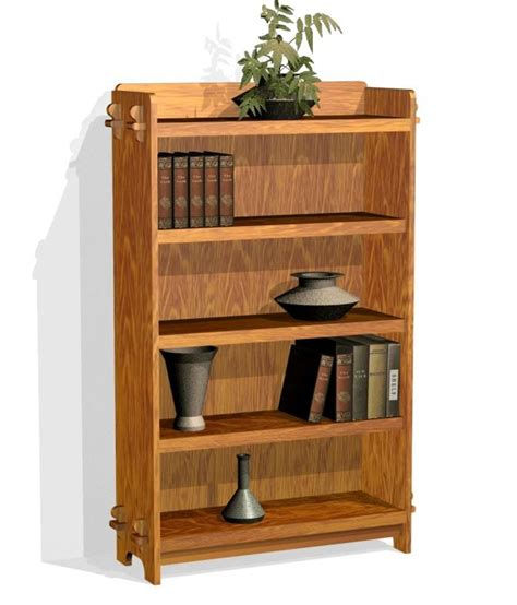 mission style bookshelf plans furniture plans