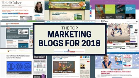 digital marketing blogs best marketing blogs for 2018 brian manon