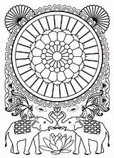 Coloring India Adult Coloriage Bollywood Elephants Pages Mandala Inde Adults Imprimer Adulte Indian Hindu Pour Gratuit Dessin Colouring Difficult Indien sketch template