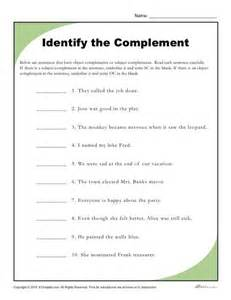 The Worksheet Identify The Complement Worksheet
