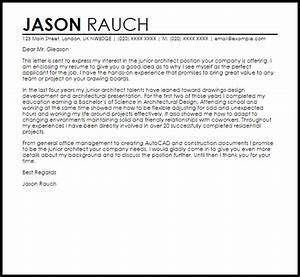 junior architect cover letter sample livecareer With cover letter for architect position
