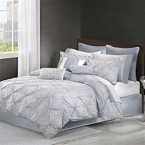 echo design bedding echo design dot comforter set in grey bed bath beyond