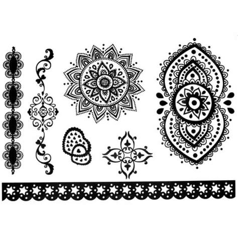 dentelle de tatouages ephemeres ou temporaires