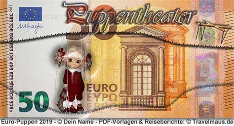 Wieder eine idee aufgegriffen, die wir hier umgesetzt haben: PDF-Euroscheine am PC ausfüllen und ausdrucken - Reisetagebuch der Travelmäuse