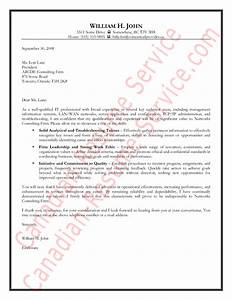 Canada Resume Example Information Technology Cover Letter Example Sample