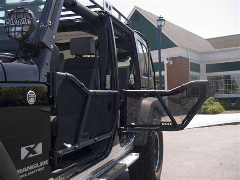mesh doors warrior products 90777 rear door mesh covers for 07 Jeep