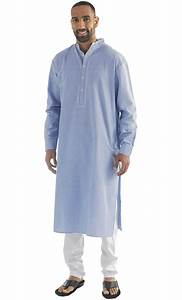 Nabeel Chambray Mens Kurta Blue Shop at Discount Price ...