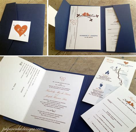 Diy Print And Assemble Wedding Invitations Papercake Designs