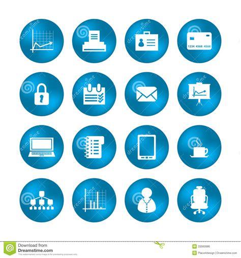 icones de bureau diverses ic 244 nes de bureau image libre de droits image