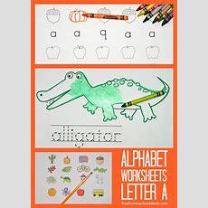 Free Instant Download Printable Alphabet Worksheets Letter A  Free Homeschool Deals