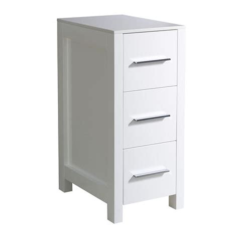 fresca torino 12 quot white bathroom linen side cabinet at