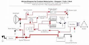 Simple Motorcycle Wiring Diagram For Choppers And Cafe Racers  U2013 Evan Fell Motorcycle Works