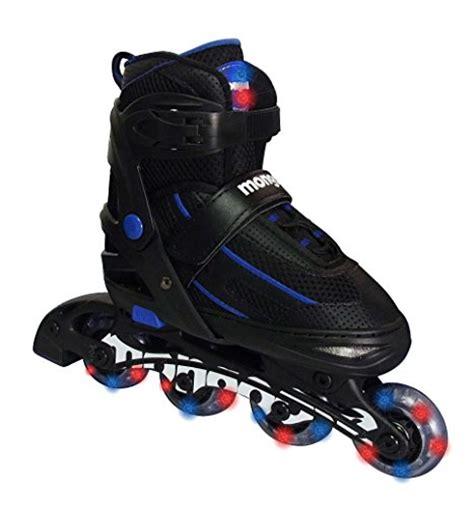 light up skates from usa mongoose adjustable light up inline skates blue