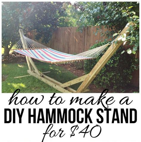 diy hammock stand plans how to build a hammock stand