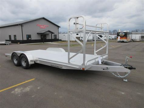 Boat Trailer Nose Wheel by 2018 Atc 20 All Aluminum Car Hauler W Tire Rack Custom