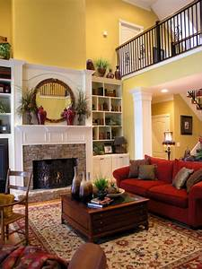 Formal Living Room, Two-story living room with fireplace ...