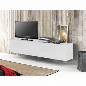 Meuble Sous Tv Suspendu : meuble tv suspendu acia 311 s achat vente meuble tv meuble tv suspendu acia 311 cdiscount ~ Teatrodelosmanantiales.com Idées de Décoration