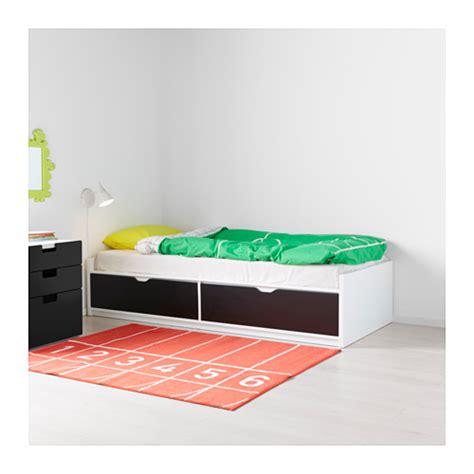 ikea flaxa bed flaxa bed frame w storage slatted bedbase white 90x200 cm
