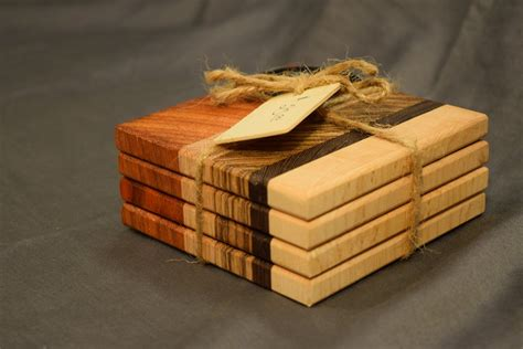 grain coaster set easy woodworking projects