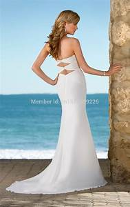 new arrival elegant sweetheart chest beaded sheath bride With dresses for beach wedding