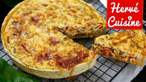 recettes hervé cuisine recette de quiche végétarienne facile
