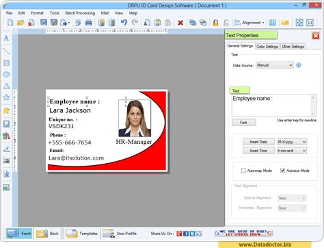 id card designing software create student employee