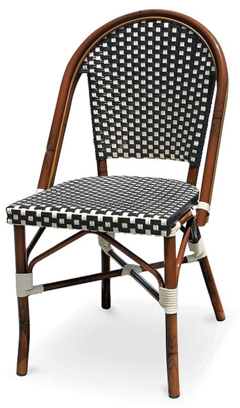 bistro bar stools black white rattan bistro aluminum chairs