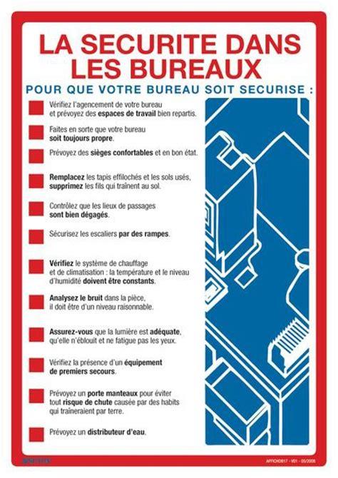 bureau sécurité transport affiche sur la sécurité dans les bureaux seton fr
