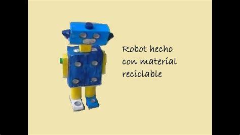 con material reciclados robot vestimenta con material reciclables con material reciclados robot