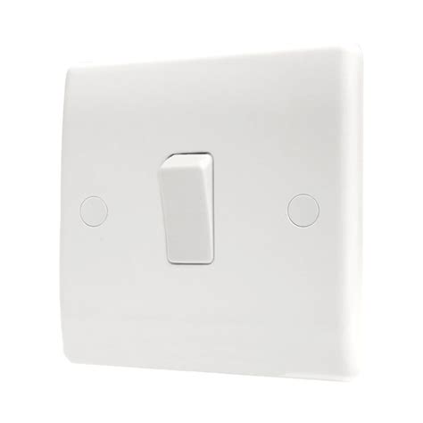 single light switch bg 811 white plastic slim single light switch 1 gang 1 way