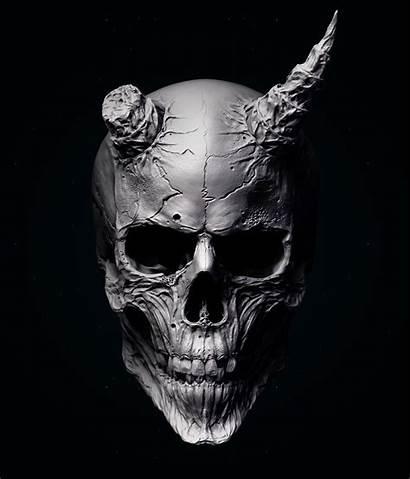 Skull Oni Mask Tattoo Dark Calaveras Calavera