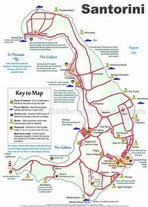 Santorini sightseeing map