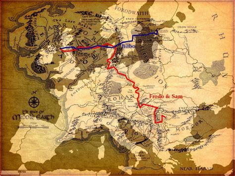 middle earth europe im  map middle earth