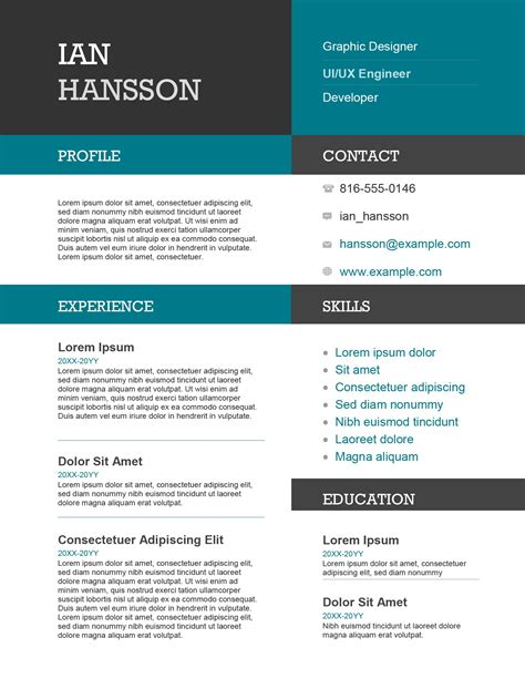 Color On Resume by Color Block Resume