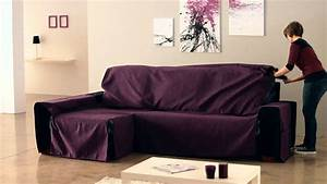 Housse De Canapé D Angle Extensible : housse de canape angle avec accoudoir ~ Melissatoandfro.com Idées de Décoration