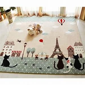 Tapis Pour Chambre Enfant : tapis motif chat achat vente tapis motif chat pas cher les soldes sur cdiscount cdiscount ~ Melissatoandfro.com Idées de Décoration