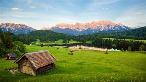 美丽阿尔卑斯山自然风景2k壁纸高清大图预览1920x1080_风景壁纸下载_彼岸桌面