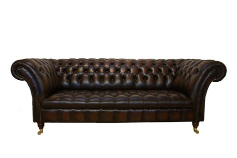 leather chesterfield sofa brown leather chesterfield sectional with reclyner