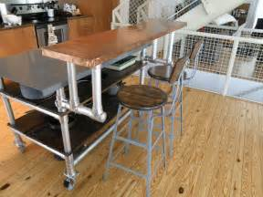 kitchen island bar table kitchen island cart on wheels with breakfast bar counter height table and stools