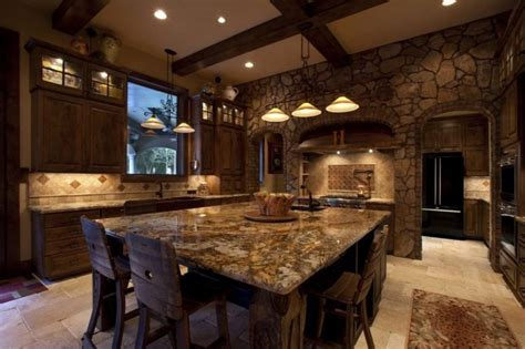 Unique and Excellent Rustic Kitchens Ideas Primitive