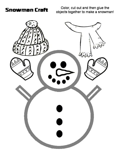 snowman cutout kindergarten cutting for 148   b2416b0cefd37307b29697bacf5b1ec8