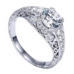 filigree wedding band 18k white gold filigree engagement ring wedding day diamonds