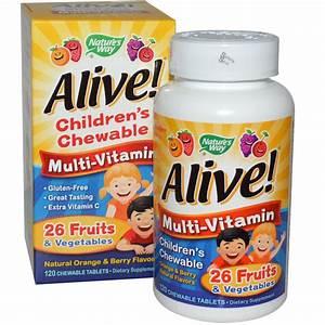 Nature's Way, Alive! Children's Chewable Multi-Vitamin ...