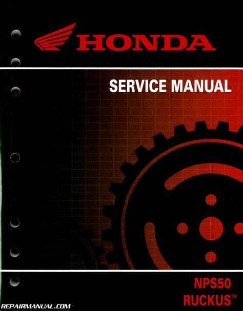 Honda Nps Ruckus Scooter Service Manual